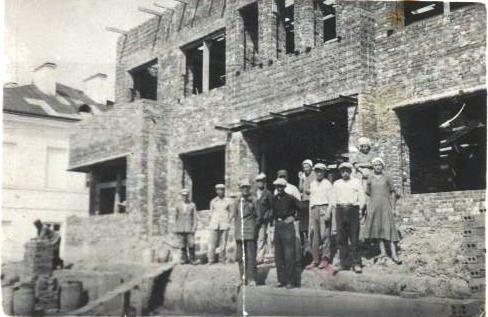 Bibliotekos pastato Vytauto gatvėje statybos