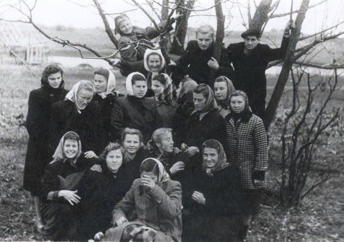 Ukmergės rajono bibliotekininkai 1956 metais Žemaitkiemyje